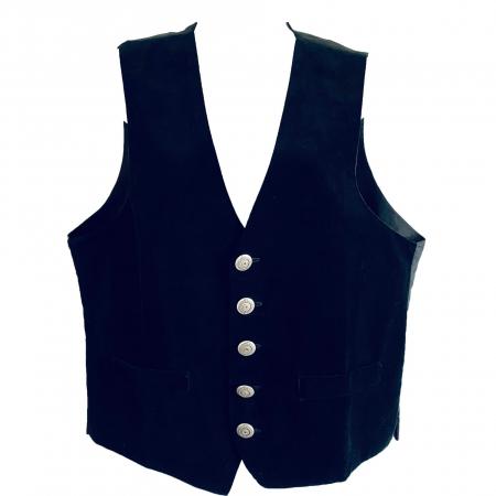 Black velvet Raven waistcoat