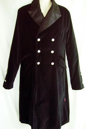 men's velvet long jacket