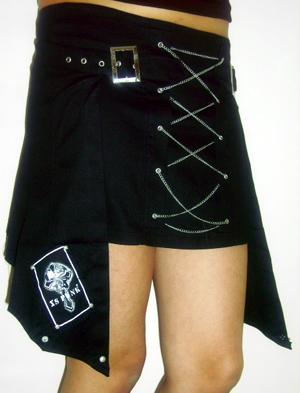 mini skirt with overskirt