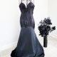 Lip Service black maxi dress purple trim