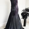 Lip Service black maxi dress purple trim (back)