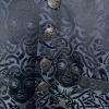 Medusa waistcoat black on dark silver grey (detail)