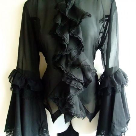 chiffon fril blouse