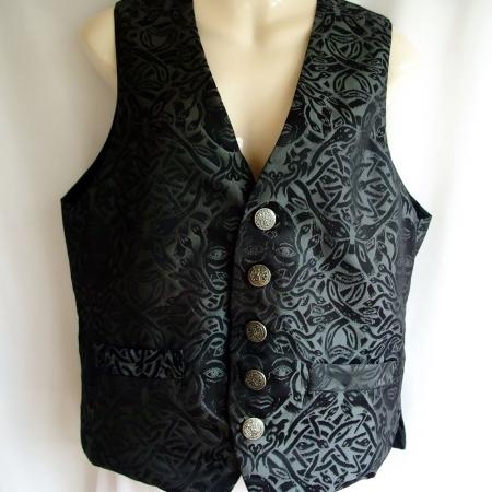 silver Medusa print waistcoat