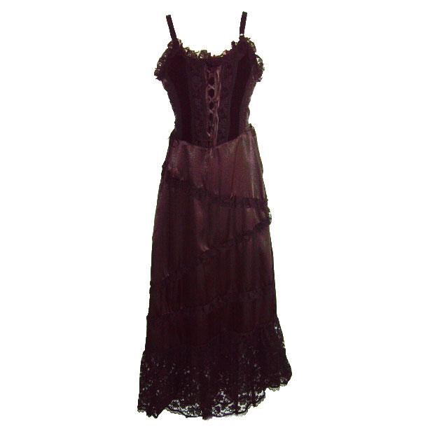 diagonal frill hem gothic dress