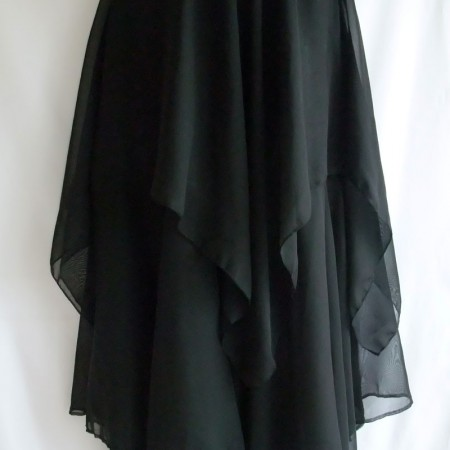chiffon handkerchief double skirt