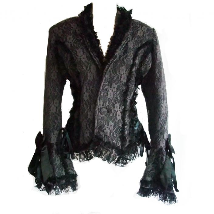Grey Lace Gothic Jacket