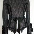 grey lace gothic jacket (back)