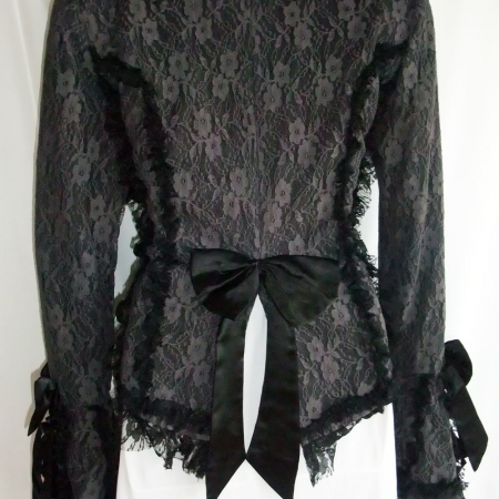 grey lace gothic jacket (back)