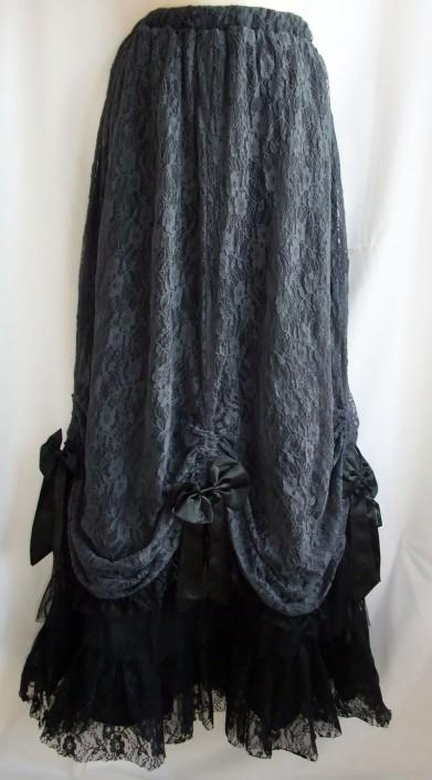 dark grey lace skirt