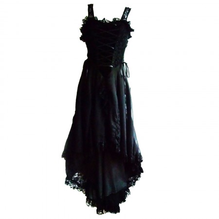 short front long gothic dress