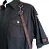 Red skull straps gothic shirt (detail)