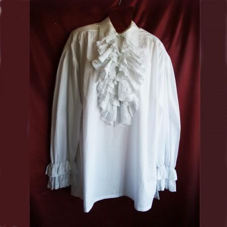 white gothic frill shirt