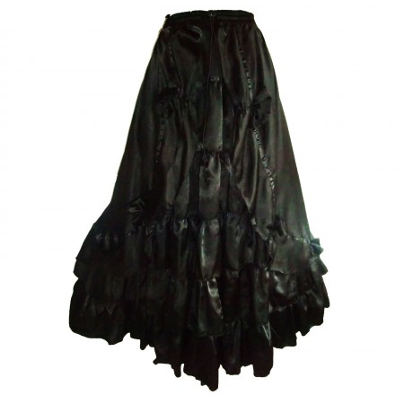 gothic taffeta tiered double skirt
