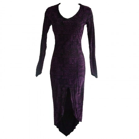 purple demon print gothic dress