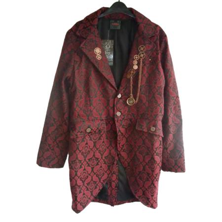 red brocade jacket