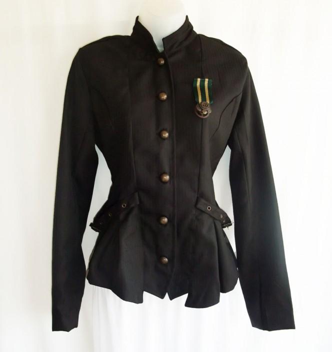 pinstripe steampunk jacket