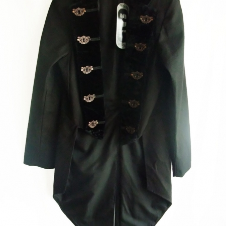 gothic steampunk velvet collar jacket