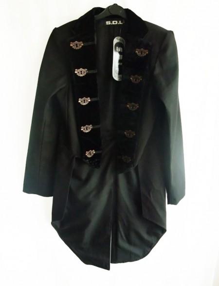 gothic steampunk velvet collar jacket