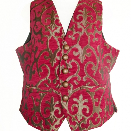 red & gold swirl waistcoat