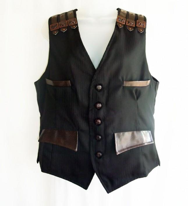 pinstripe steampunk waistcoat