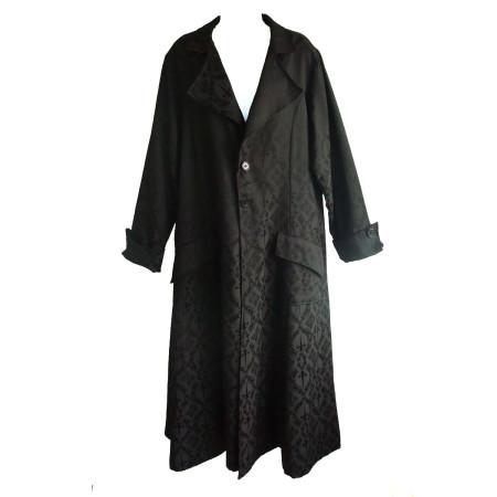 """Raven"" dagger print coat"