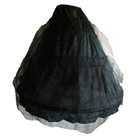 long black hoop underskirt