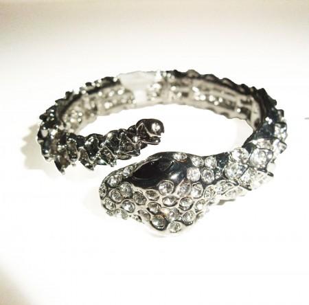gothic diamante snake bracelet