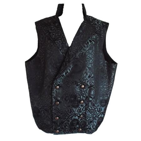dark silver Meusa print waistcoat