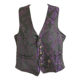 black waistcoat with purple dagger print