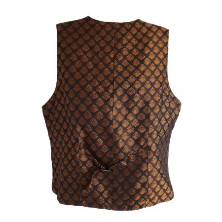 gold brocade waistcoat (back)