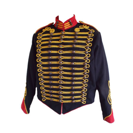 black with red military jacket
