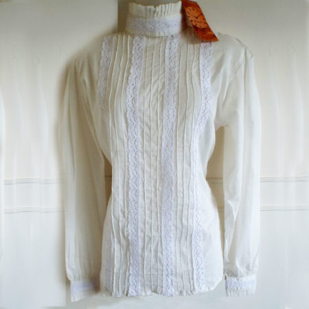 cream steampunk blouse
