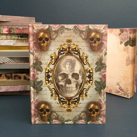 skull in mirror notebook