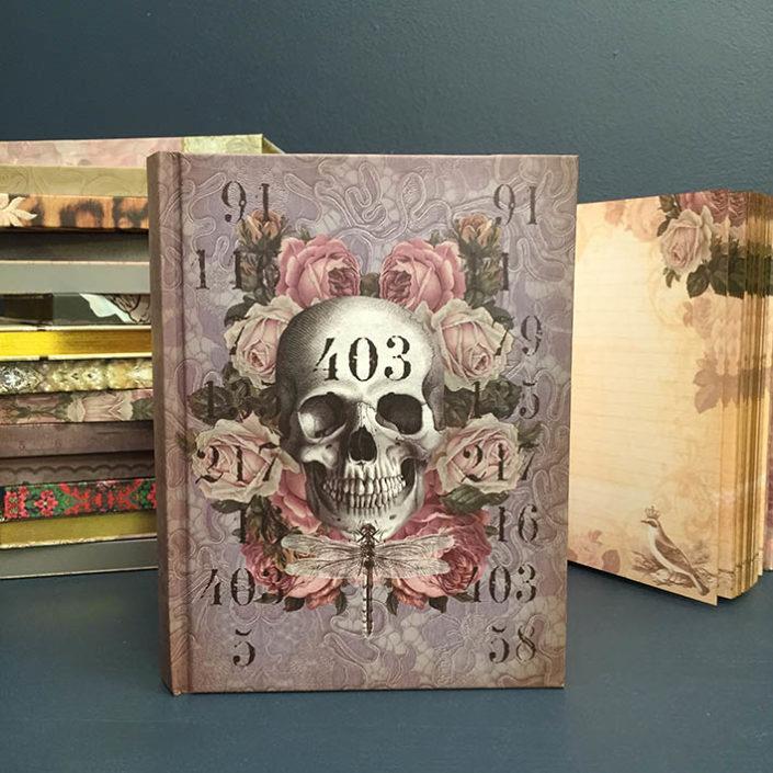 skull & roses notebook