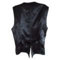 gray and silver on black brocade waistcoat (back)