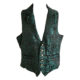 waistcoat with lapels in teal barbed wire