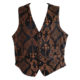black waistcoat with bronze print