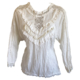 steampunk cream blouse