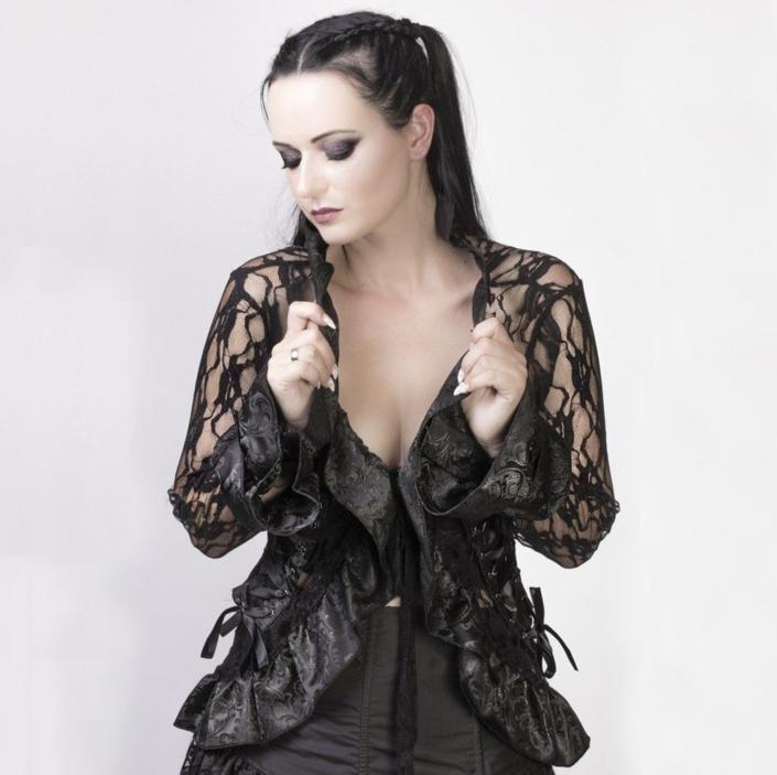 steampunk brown lace jacket