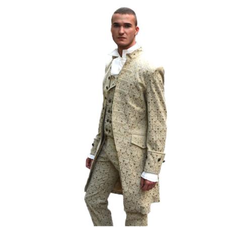 cream brocade jacket