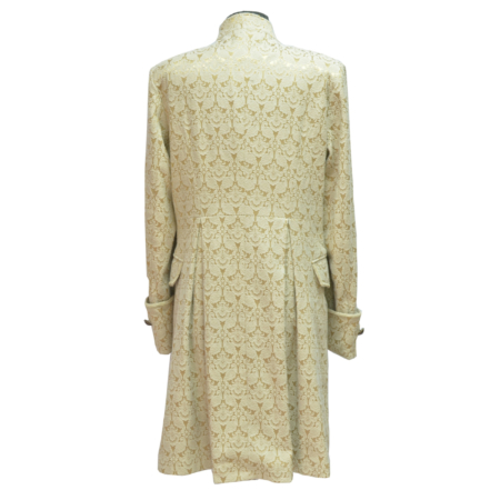 cream brocade jacket (back)