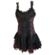 gothic pink cobweb mini dress