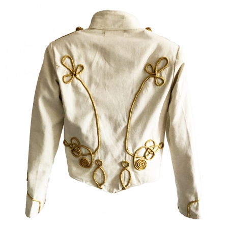 women's ivory SDL military jacket back