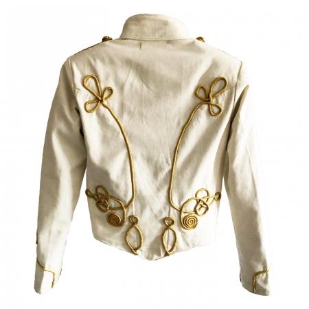 women's ivory SDL military jacket back