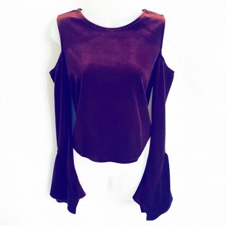 burgundy velvet gothic top