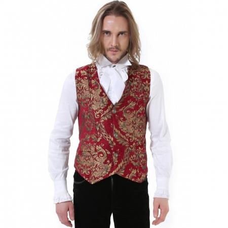 red brocade Pentagramme waistcoat