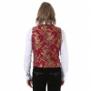 red brocade Pentagramme waistcoat (back)