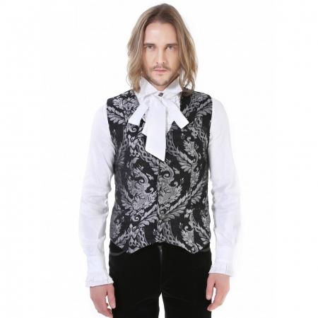 silver brocade Pentagramme waistcoat