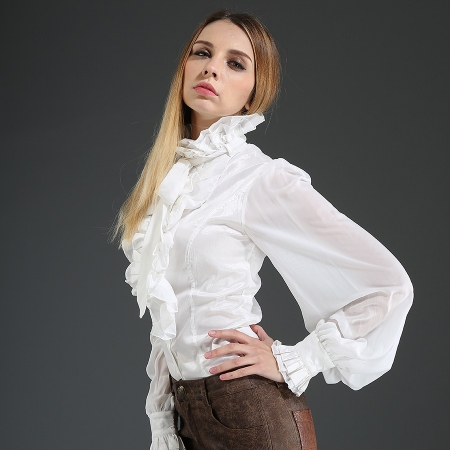 frill neck Pentagramme blouse